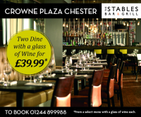 Two Dine With A Glass Of Wine For Only £39.99*