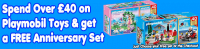 Spend over £40 on Playmobil and get a FREE anniversary set