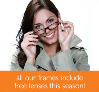 Any Frame Style. Free Lenses! at BBR, Oswestry.