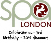 Celebrate our 3rd Birthday - 20% discount @spalondon