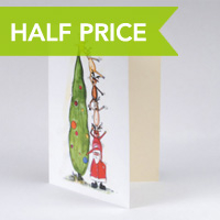 HALF PRICE PERSONALISED CHRISTMAS CARDS