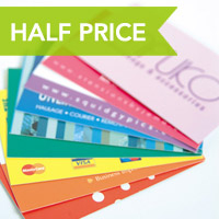 REGULAR BUSINESS CARDS FROM JUST £40