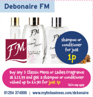 Buy any 2 classic Mens or Ladies Fragrance and Get a shampoo or conditioner for 1p!