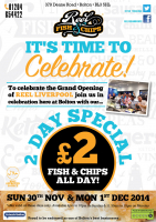 2 Day Special! £2 Fish and Chips!