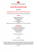 Early Bird Special Dine for £10.90 no.2