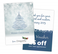 50 PERSONALISED CHRISTMAS CARDS FOR JUST £55