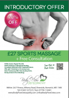 £27 Sports Massage + Free Consultation