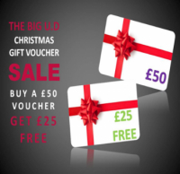 Buy a £50 gift card and we will give you a £25 gift card FREE