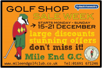 Golf Shop Sale Week