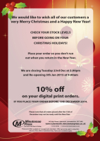 10% off your digital print orders