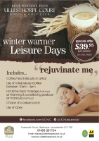 Winter Warmer Leisure Days Jan-Mar 2015