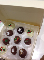 A box of Christmas Truffles - What a great gift idea!