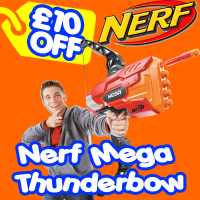Save £10 on the NERF N-STRIKE ELITE MEGA THUNDERBOW BLASTER