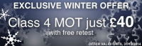 MOT ONLY £40.00 with FREE retest
