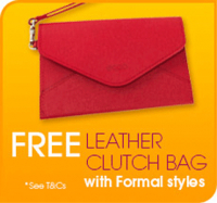 FREE Leather Clutch Bag with all purchase from our Formal Collection