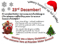 WIN a Luxury Hamper in the Priorslee Motors Christmas Raffle