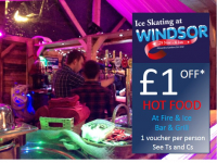 £1 off hot food at Fire & Ice Bar and Grill