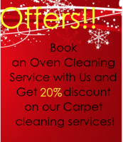 20% off carpet cleaning when we clean your oven