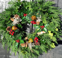 Christmas Wreaths at Farmyard Nurseries