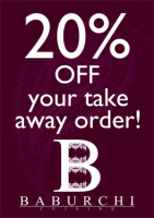 20% Off Your Take Away