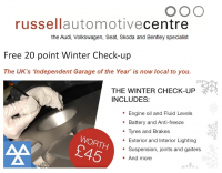 FREE 20 point Winter Check-up for your car
