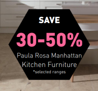 Save 30-50% on selected Paula Rosa Manhattan kitchen ranges