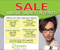 Winter Sale at Glasses, Frames and Lenses