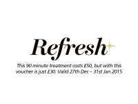 REFRESH - January 40% off foot pedicure