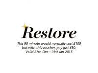 RESTORE - January 50% off skin scrub