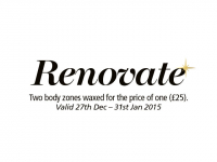 RENOVATE - January two for one waxing