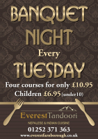 Tuesday Night Banquet Night for £10.95!