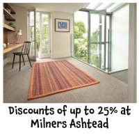 Discounts of up to 25% on flooring in store @MilnersAshtead