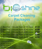 Fantastic carpet cleaning offer - 1 bed house just £110, 5 beds only £290. Save up to £110!
