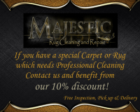 10% off cleaning of special carpets/rugs, free collection and delivery