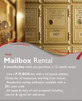 3 Months Free when a 12 Month Mail Box rental is purchased