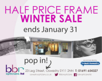 Half Price Frames WINTER SALE at BBR