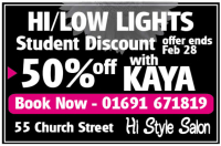 50% Student Discount on Hi/Low Lights with KAYA