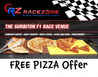 FREE PiZZA Offer for Kid Parties and Groups – RaceZone #Surbiton @Racezonego