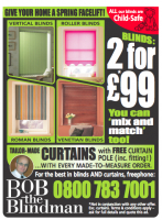 2 BLINDS FOR £99 THIS SPRING