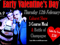 £10 OFF Valentines Couple meal at Casey's in Telford