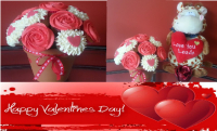 Hearts & Roses Valentines Cupcake Bouquet! Now ONLY £20 Delivered!