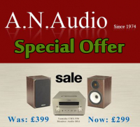Save £100 on yamaha CRX-550 with Monitor Audio BX-1 (Oak/Black/Walnut) at AN Audio