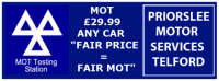 MOT Test for only £29.99. ANY CAR!