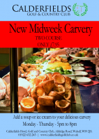 MIDWEEK CARVERY - 2 COURSES FOR ONLY £7.95