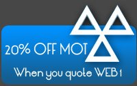 20% off your MOT