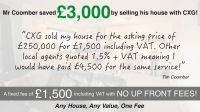 Fixed Fee Estate Agent Fees - £1500