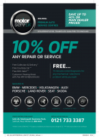 10% off labour on any service / repair