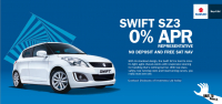 Suzuki Swift SZ3 O% APR REPRESENTATIVE