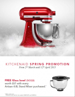 KitchenAid Spring Promotion