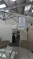 SAVE £40 - WHITE CANTILEVER PARASOL